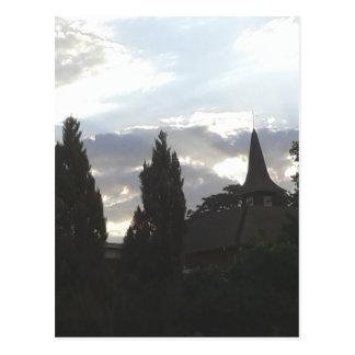 Postal Iglesia de la puesta del sol