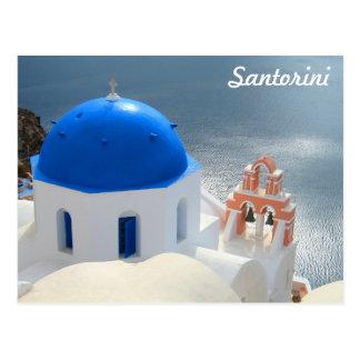 Postal Iglesia de Santorini por la tarde Sun