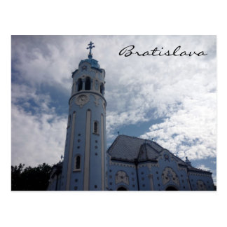 Postal iglesia del azul de Bratislava
