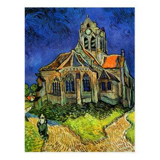 Postal Iglesia en la bella arte de Auvers Van Gogh