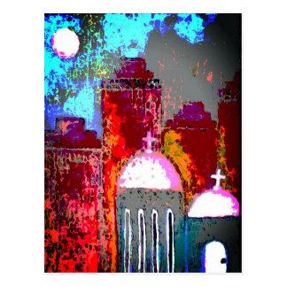 Postal Iglesia rosada de la ciudad
