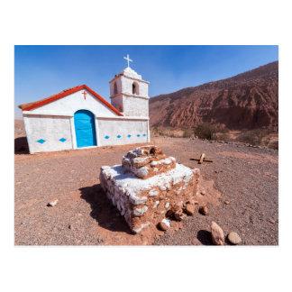 Postal, Iglesia San Isidro, Atacama, Chile Postal
