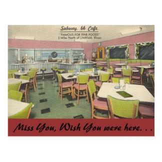 Postal Illinois, café del subterráneo 66, Litchfield