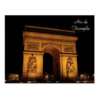 Postal Iluminaciones de París: Arco del Triunfo