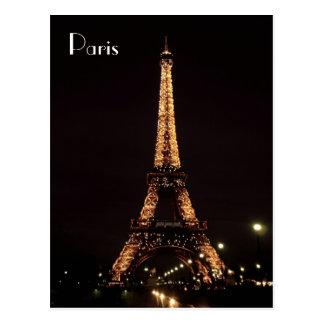 Postal Iluminaciones de París: La torre Eiffel