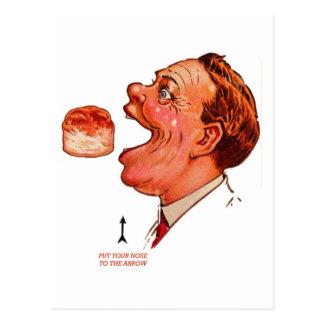 Postal Ilusión óptica de Bob del vintage de la galleta