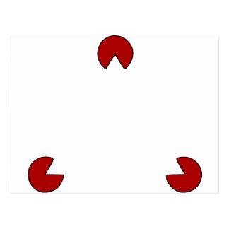 Postal Ilusión óptica del triángulo invisible