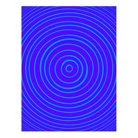 Postal Ilusión óptica púrpura azul de Oddisphere
