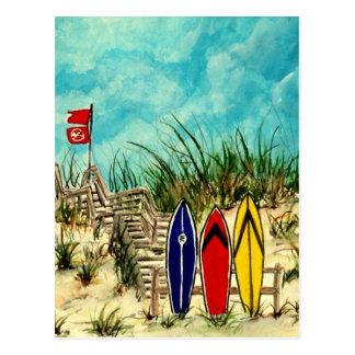 Postal ilustraciones amarillas del arte de la resaca de