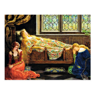 Postal Ilustraciones de la bella durmiente