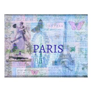 Postal Ilustraciones temáticas de PARÍS del vintage con