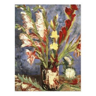 Postal Imagen de la flor del vintage de Van Gogh del