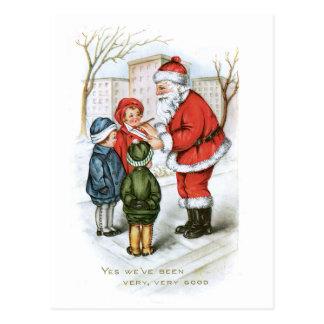 Postal Imagen del navidad del vintage