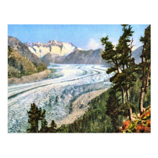Postal Imagen del vintage, glaciar Bernese Oberland de