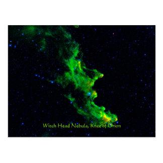 Postal Imagen principal de la astronomía de espacio