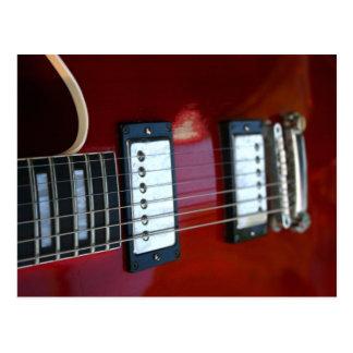 Postal Imagen semi hueco de la guitarra del rojo de las