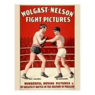 Postal Imágenes de la lucha de Wolgast-Nelson - poster