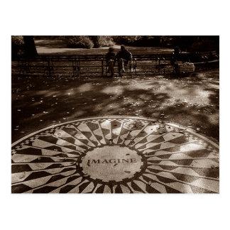Postal Imagínese el Central Park NYC del tributo de