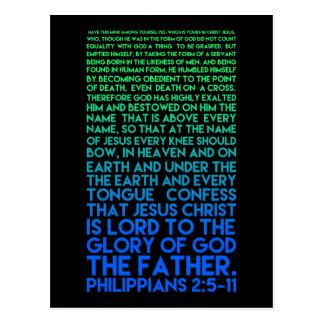 Postal Imite el 2:5 de los filipenses de la humildad de