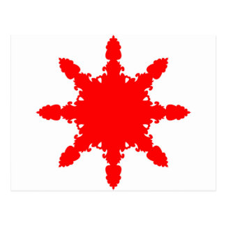 Postal Impresión circular roja