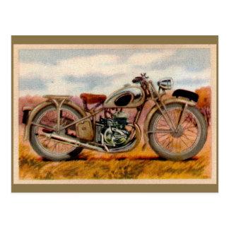 Postal Impresión de la motocicleta del vintage