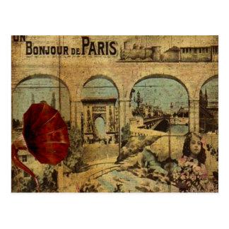 Postal Impresión de París del vintage