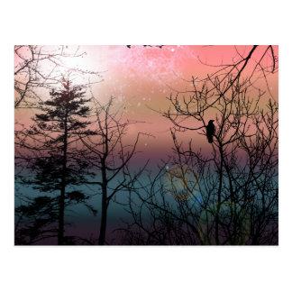 Postal Impresión firmada paisaje de la soledad de la