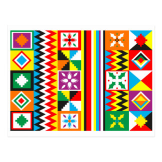 Postal Impresión tribal africana del modelo del paño de