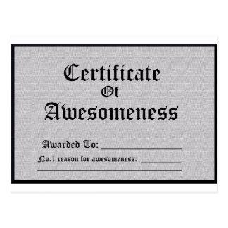 Postal Impresionante certificada