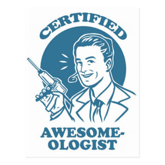 Postal Impresionante-ologist certificada
