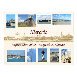 Postal Impresiones históricas de St Augustine, la Florida