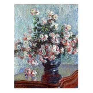 Postal Impresionismo floral del vintage de los