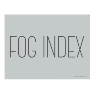 Postal Índice de la niebla