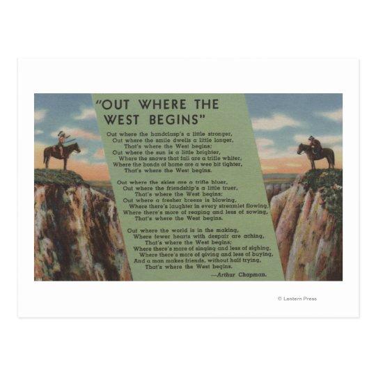 """Postal Indios del noroeste """"hacia fuera donde el oeste"""