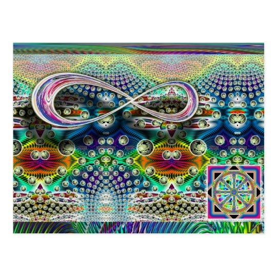 Postal infinita de la rueda de Dharma