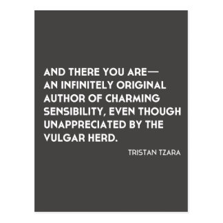 "Postal ""infinitamente original"" de Tristan Tzara"