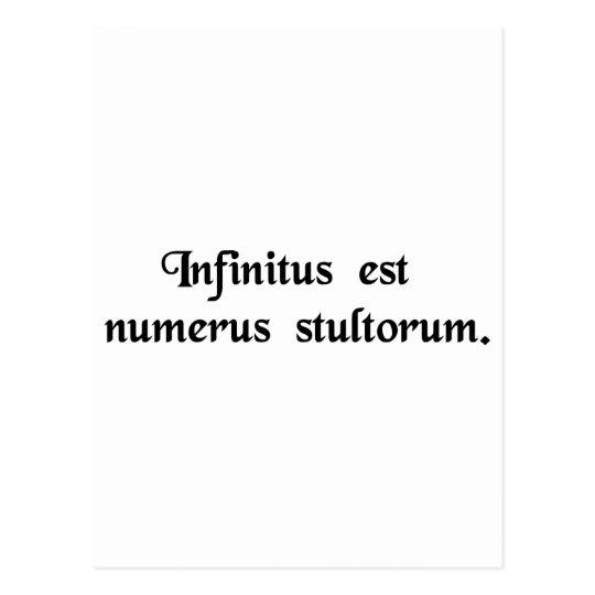 Postal Infinito es el número de tontos