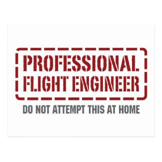 Postal Ingeniero de vuelo profesional