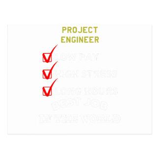 Postal ingeniero del proyecto