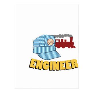 Postal Ingeniero del tren