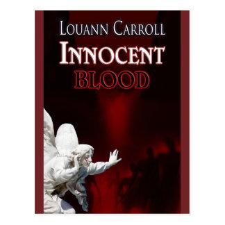 Postal inocente del diseñador de la sangre