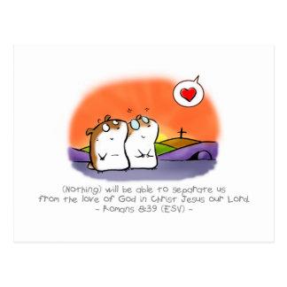 Postal inseparable del amor de dios