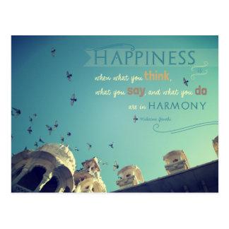 "Postal inspirada de la cita de la ""felicidad"" -"