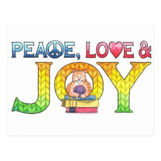 Postal inspirada de la paz, del amor y de la
