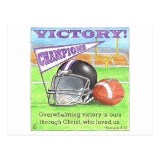 Postal inspirada de la victoria