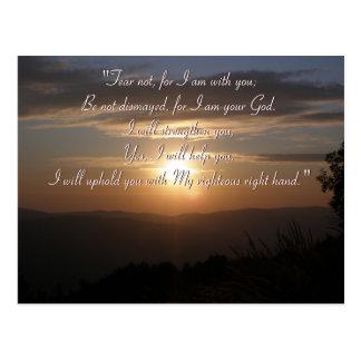 Postal inspirada - Isaías 41; 10
