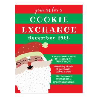 Postal Intercambio de la galleta de las Felices Navidad