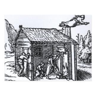 Postal Interior de la casa de una bruja, 1579