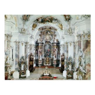 Postal Interior de la iglesia benedictina de la abadía