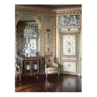 Postal Interior del gabinete de señora de Marie Antonieta
